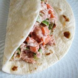 Wraps met tonijnsalade