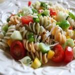 Tonijnsalade pasta met aubergine